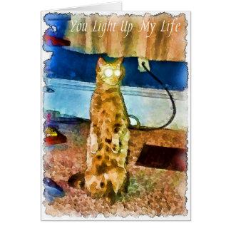 Elektrische Katze card.jpg Grußkarte