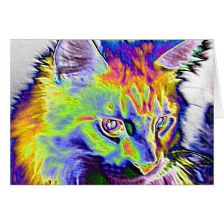 Elektrische Katze Grußkarte