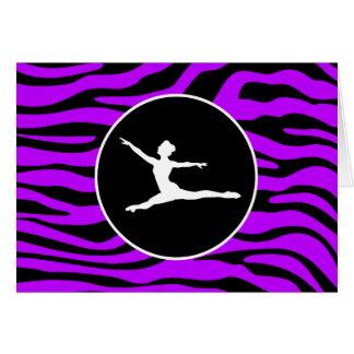 Elektrische lila Zebra-Streifen; Ballett Grußkarte