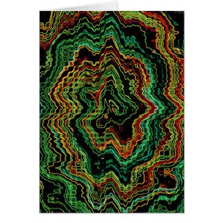 Elektrische Nordlichter Grußkarte