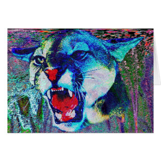 Elektrische Puma-Karte Grußkarte