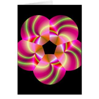 elektrische Rose Grußkarte
