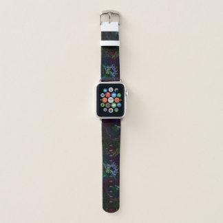 Elektrische Rosen-Garten-NeonBlumen Apple Watch Armband