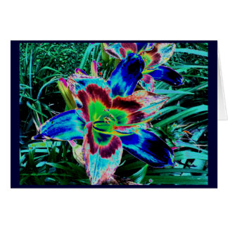 Elektrische Taglilie Grußkarte