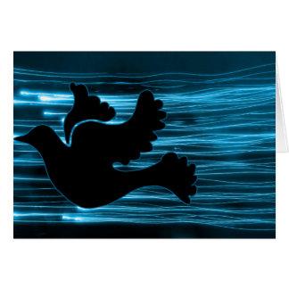Elektrische Taube Grußkarte