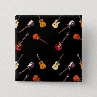 Elektrische u. Akustikgitarre-Collage Quadratischer Button 5,1 Cm