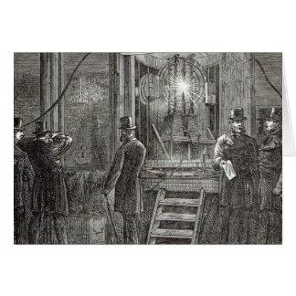 Elektrischer Apparat für den Glockenturm Grußkarte