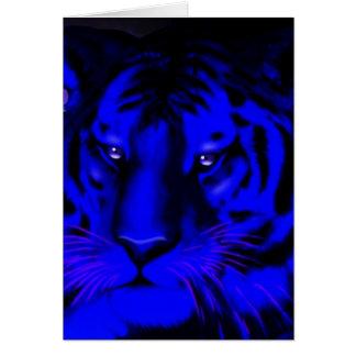 Elektrischer blauer Tiger Grußkarte