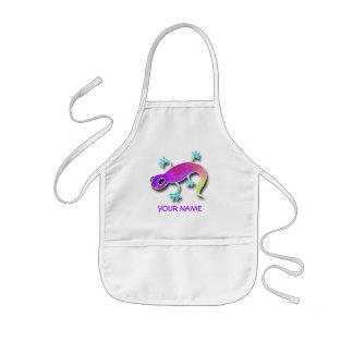 Elektrischer Eidechsen-Farben-Kittel! Kinderschürze
