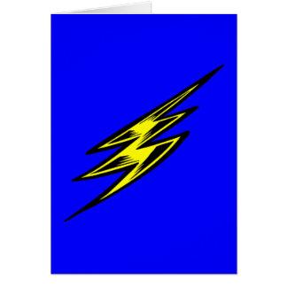 Elektrischer gelber Blitz-Bolzen Karte