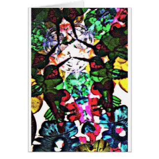 elektrischer Kolibri Grußkarte