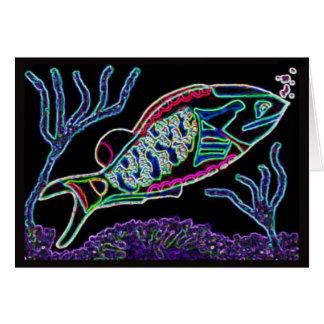 Elektrischer Neonpapageienfisch Karte