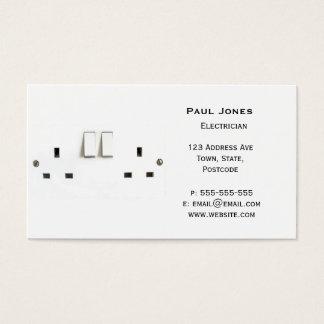 Elektrischer Sockel von Großbritannien Visitenkarte