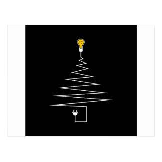 Elektrischer Weihnachtsbaum Postkarte