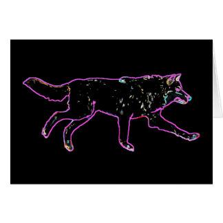 Elektrischer Wolf Grußkarte
