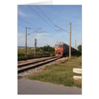 Elektrischer Zug Grußkarte