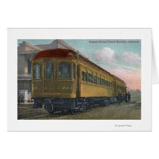 Elektrischer Zug-Nordansicht Grußkarte