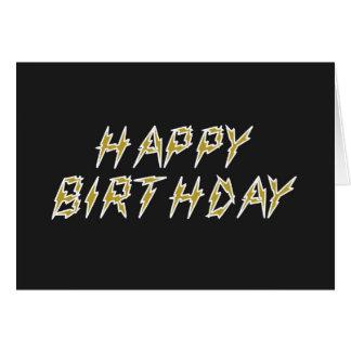 Elektrisches alles Gute zum Geburtstag Grußkarte