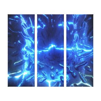 Elektrisches Blau ausgedehnter Leinwand-Druck Leinwanddruck