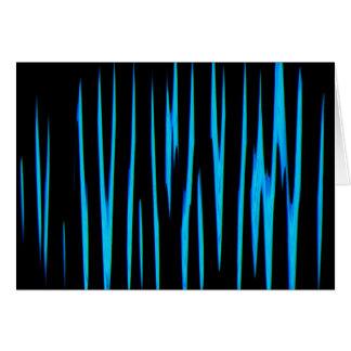 ELEKTRISCHES BLAUES (ein abstrakter Kunstentwurf) Grußkarte