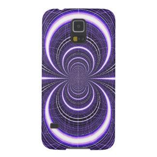 Elektrisches lila Gitter Rays das abstrakte Muster Hülle Fürs Galaxy S5
