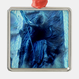 Elektrisches Shiva Quadratisches Silberfarbenes Ornament