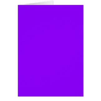 ELEKTRISCHES VIOLETTES (eine feste purpurartige Grußkarte