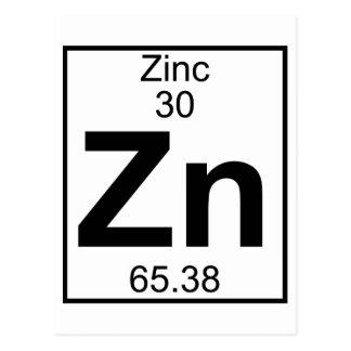 Element 030 - Zn - Zink (voll) Postkarte