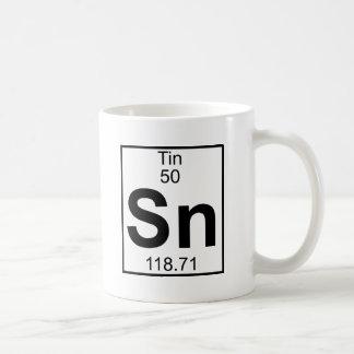 Element 050 - Sn - Zinn (voll) Kaffeetasse