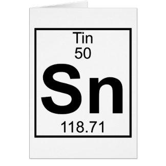 Element 050 - Sn - Zinn (voll) Karte