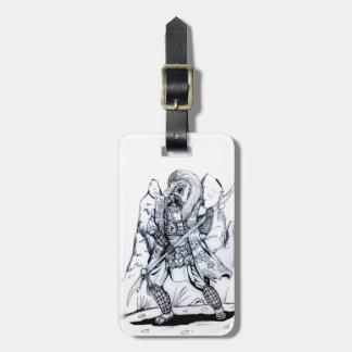 Elementare Luft-Samurais Gepäckanhänger