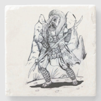 Elementare Luft-Samurais Steinuntersetzer