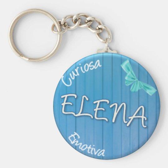 ELENA - Summer Style Standard Runder Schlüsselanhänger