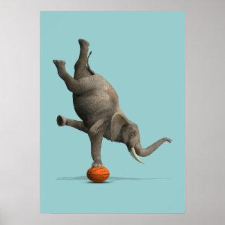 Éléphant artistique poster