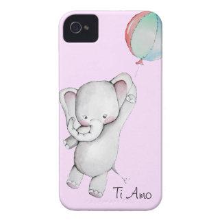 Éléphant de bébé avec la caisse de Blackberry de r Coques iPhone 4