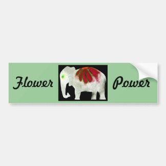 Éléphant de flower power autocollant de voiture
