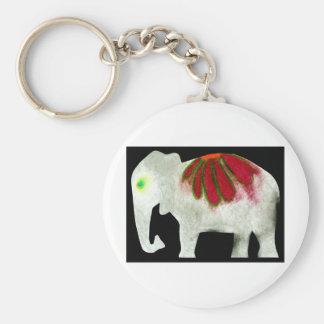 Éléphant de flower power porte-clef
