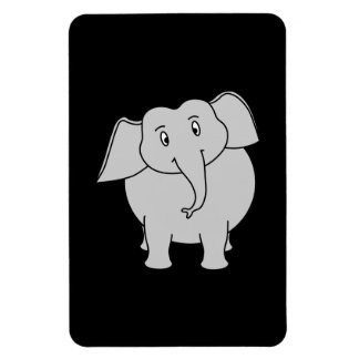 Éléphant gris magnet en rectangle