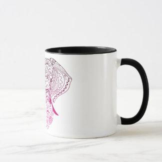 elephant zerteilt tasse