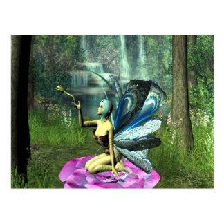 Elf, der einen Frosch freigibt Postkarte