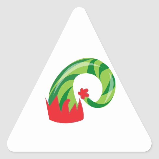 Elf-Hut Dreieckiger Aufkleber | Zazzle.ch