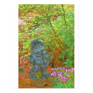 Elf im Garten Postkarte