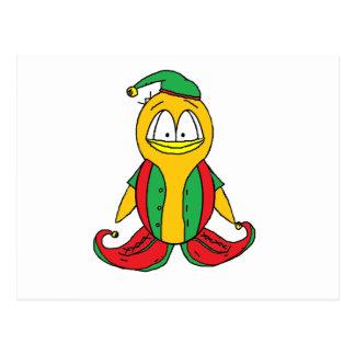 Elf-Pinguin Postkarte