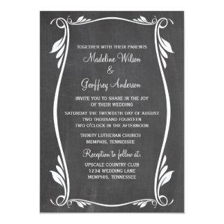 Elfenbein blühen Tafel-Hochzeit einladen 12,7 X 17,8 Cm Einladungskarte