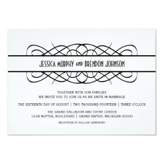 Elfenbein-Deko blühen Hochzeit einladen 12,7 X 17,8 Cm Einladungskarte