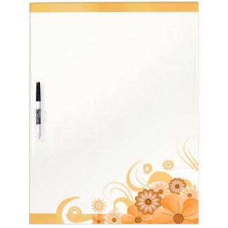 Elfenbein-GoldHibiskus Blumenc$trocken-löschen Whiteboard