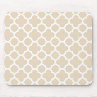 Elfenbein Quatrefoil Gitter-Muster Mousepad