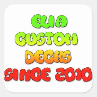 elia rasta Logo-Raumaufkleber Quadratischer Aufkleber