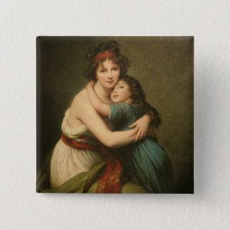 Elisabeth und ihre Tochter Quadratischer Button 5,1 Cm