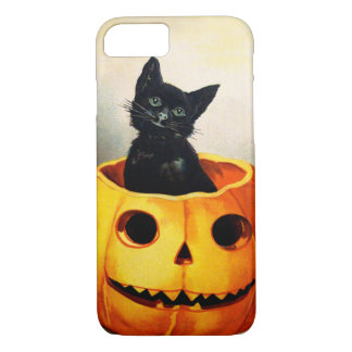 Ellen H. Clapsaddle: Schwarze Katze im Jack iPhone 8/7 Hülle